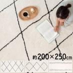 ラグマット ベニワレン風 ベニオワレン風 約200cm×250cm カーペット ラグカーペット 長方形 ラグ 絨毯 メッシュ シンプル 北欧 西海岸