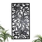 アートパネル 壁掛け 木製 50×100cm リゾート 壁飾り 木彫り 彫刻 モダン アジアン雑貨 バリ雑貨