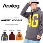 ショッピングパーカ 長袖パーカー アナログ ANALOG メンズ AGENT プルオーバー ビッグロゴ トレーナー フーディー スノーボード スキー 得割30