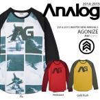 長袖 Tシャツ アナログ ANALOG AGONIZE メンズ ロンT ビッグロゴ スノボ スノーボード スキー カジュアル 得割50