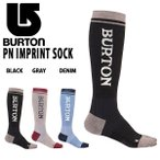 【最大23%還元】 ロングソックス バートン BURTON JPN Imprint Sock メンズ レディース ハイソックス 靴下 ソックス スノーボード スキー 19-20