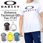 ショッピングOAKLEY 半袖Tシャツ OAKLEY オークリー メンズ Enhance Technical QD Tee.17.01 ロゴTシャツ トレーニング スポーツウェア 2017春夏新作