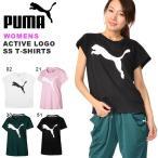 半袖 Tシャツ プーマ PUMA レディース ACTIVE ロゴ SS Tシャツ ビッグロゴ トレー...
