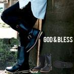 Boots - ロング エンジニアブーツ FAKE LEATHER ENGNEER BOOTS 9810 ゴッドブレス ロングブーツ ロング丈 ブーツ 送料無料
