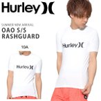 ショッピングラッシュ 半袖ラッシュガード HURLEY ハーレー メンズ OAO S/S RASHGUARD ロゴ UVカット Tシャツ サーフィン サーフ RASH 2018春夏新作 10%off