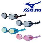 スイミングゴーグル MIZUNO ミズノ メンズ レディース フィットネス用 クッションタイプ ミラーレンズ 水泳 競泳  得割20