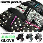 ショッピングNORTH ジュニア スキー グローブ 手袋 JUNIOR GLOVE キッズ 子供 こども north peak ノースピーク スノーボード スノボ 得割34