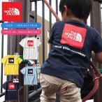 子供 UV 半袖Tシャツ THE NORTH FACE ザ・ノースフェイス キッズ ベビー S/S Square Logo Tee スクエアロゴ ティー 2019春夏新作 バックプリント ntj81827