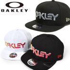送料無料 ロゴ キャップ OAKLEY オークリー メンズ OAKLEY New Era ロゴ 帽子 CAP 平つば ニューエラ FOS900145 2021春夏新色 得割10