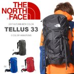 リュックサック ザ・ノースフェイス THE NORTH FACE TELLUS 33 テルス バッグ バックパック リュック アウトドア ザック 登山  2017春夏新色 20%off