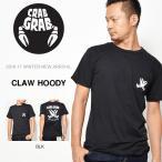 CRAB GRAB クラブグラブ  半袖Tシャツ スノーボード CROSS CLAW POCKET Tee メンズ 紳士 cross-claw-tee-L-BLACK