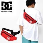 ボディバッグ DC SHOES ディーシー TUSSLER 1.5L レッド 赤 ロゴ ウエストバッグ ウエストポーチ edyba03069