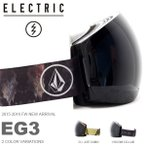 ショッピングスノボ スノーゴーグル ELECTRIC エレクトリック EG3 アジアンフィット フレームレス 日本正規品  スノー ボード 球面レンズ  得割30