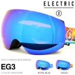 ショッピングスノボ ゴーグル ELECTRIC エレクトリック EG3 イージースリー アジアンフィット 日本正規品  スノー ボード 球面レンズ  得割30