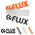 ゆうパケット対応可能! ステッカー FLUX フラックス 150mm×36mm Sサイズ ロゴ シール ダイカット スノーボード スノボ スキー スケボー
