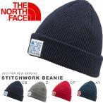 ワッペン ニット帽 ザ・ノースフェイス THE NORTH FACE メンズ レディース ステッチワーク ビーニー 帽子 アウトドア アクリル素材 ニットキャップ