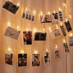 Cshare 写真飾りライト LED ストリングスライト 3M 30LED 写真クリップ DIY壁飾り