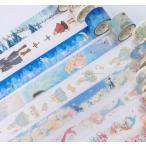 マスキングテープ 雑貨 小物 デコレーションテープ ステッカーテープ おとぎ話 人魚 羊 赤ずきん メルヘン かわいい DIY アレンジ 装飾テープ