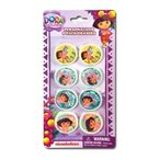 Dora The Explorer 8pk Shaped Erasers on Blister Card