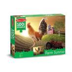 ショッピングメリッサ メリッサ&ダグファームSunrise Rooster at Dawnジグソーパズル( 100個)