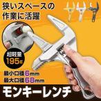ワイドモンキーレンチ  工具 ワイド ブラック