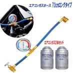 エアコン ガス チャージ ホース  60cm  R134a 日本語説明書 ガス2本セット