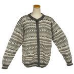 ALCF-020 アルパカ100%セーター ファスナー付 丸首 幾何学柄 男性 暖かい 綺麗
