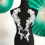 特大 モチーフレース お花 ダンス 左右セット 白 ハンドメイド 衣装 装飾