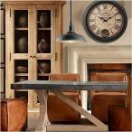 Ustideカントリー 掛け時計 壁掛け 時計 アンティーク クラシック 時計 壁掛け 北欧古典ローマ数字 クロック アナログシンプル連続秒針静音 文