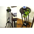 手彫り フラワースタンド 送料無料 アジアン家具 花台 飾り棚