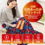 電熱 毛布 電気毛布 電気ひざ掛け 毛布 USBブランケット ひざ掛け 速暖 あったか 肩掛け 洗える 冬 130×80cm