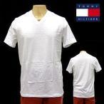 ショッピングTOMMY TOMMY HILFIGER トミー ヒルフィガー ホワイト 白 WHITE 無地 Vネック Tシャツ 015 父の日 プレゼント