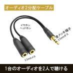 オーディオ 2分配  ケーブル 金メッキ iPhone iPo…
