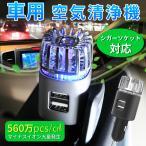 空気清浄機 車載用 マイナスイオン エアクリーナー CAR IONIZER タバコ ニオイ 悪臭 シガーソケット接続 コンパクトタイプ 全3色