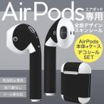 Air Pods 専用 デザインスキンシール airpods エアポッド apple アップル イヤフォン イヤホン カバー  シンプル 無地 黒 009016