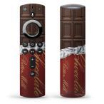 Fire TV Stick 第2世代 ファイヤー tv スティック リモコン専用スキンシール  チョコレート ブラウン 002443