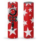 Fire TV Stick 第2世代 ファイヤー tv スティック リモコン専用スキンシール  星 赤 白 003939