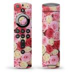 Fire TV Stick 第2世代 ファイヤー tv スティック リモコン専用スキンシール  薔薇 ピンク 白 赤 005272