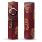 Fire TV Stick 第2世代 ファイヤー tv スティック リモコン専用スキンシール  ゾウ 象 模様 005971