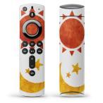 Fire TV Stick 第2世代 ファイヤー tv スティック リモコン専用スキンシール  イラスト 太陽 月 008832