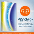 glo グロー 専用スキンシール カバー ケース 保護 フィルム ステッカー デコ アクセサリー 電子たばこ シンプル 青 黄色 002059