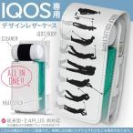 iQOS アイコス 専用 レザーケース 従来型 / 新型 2.4PLUS 両対応 「宅配便専用」 タバコ  カバー デザイン ゴルフ ショット イラスト 000140
