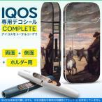 iQOS アイコス 専用スキンシール 裏表2枚 側面 ホルダー フルセット 両面 サイド ボタン 外国 絵画 イラスト 003256