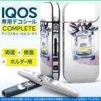iQOS アイコス 専用スキンシール 裏表2枚 側面 ホルダー フルセット 両面 サイド ボタン 香水 おしゃれ リボン 012538