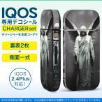 アイコス iQOS / 新型iQOS 2.4 Plus 専用スキンシール 両対応 フルセット 裏表2枚 側面 全面タイプ 写真 像 人物 羽 005960