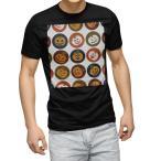 tシャツ メンズ 半袖 ブラック デザイン XS S M L XL 2XL Tシャツ ティーシャツ T shirt 黒  かぼちゃ アイコン 赤 レッド 模様 008538
