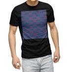 tシャツ メンズ 半袖 ブラック デザイン XS S M L XL 2XL Tシャツ ティーシャツ T shirt 黒  和風 和柄 青 011843