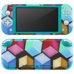 igsticker Nintendo Switch Lite 専用 デザインスキンシール 全面 任天堂 専用 ニンテンドー スイッチ ライト  バブル レインボー 000465