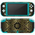 igsticker Nintendo Switch Lite 専用 デザインスキンシール 全面 任天堂 専用 ニンテンドー スイッチ ライト  模様 ゴールド 001043