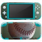 igsticker Nintendo Switch Lite 専用 デザインスキンシール 全面 任天堂 専用 ニンテンドー スイッチ ライト  野球 バット 001610